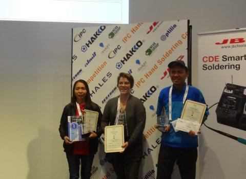 Résultats de la FINALE du Concours international IPC de brasage manuel du 14 novembre 2019