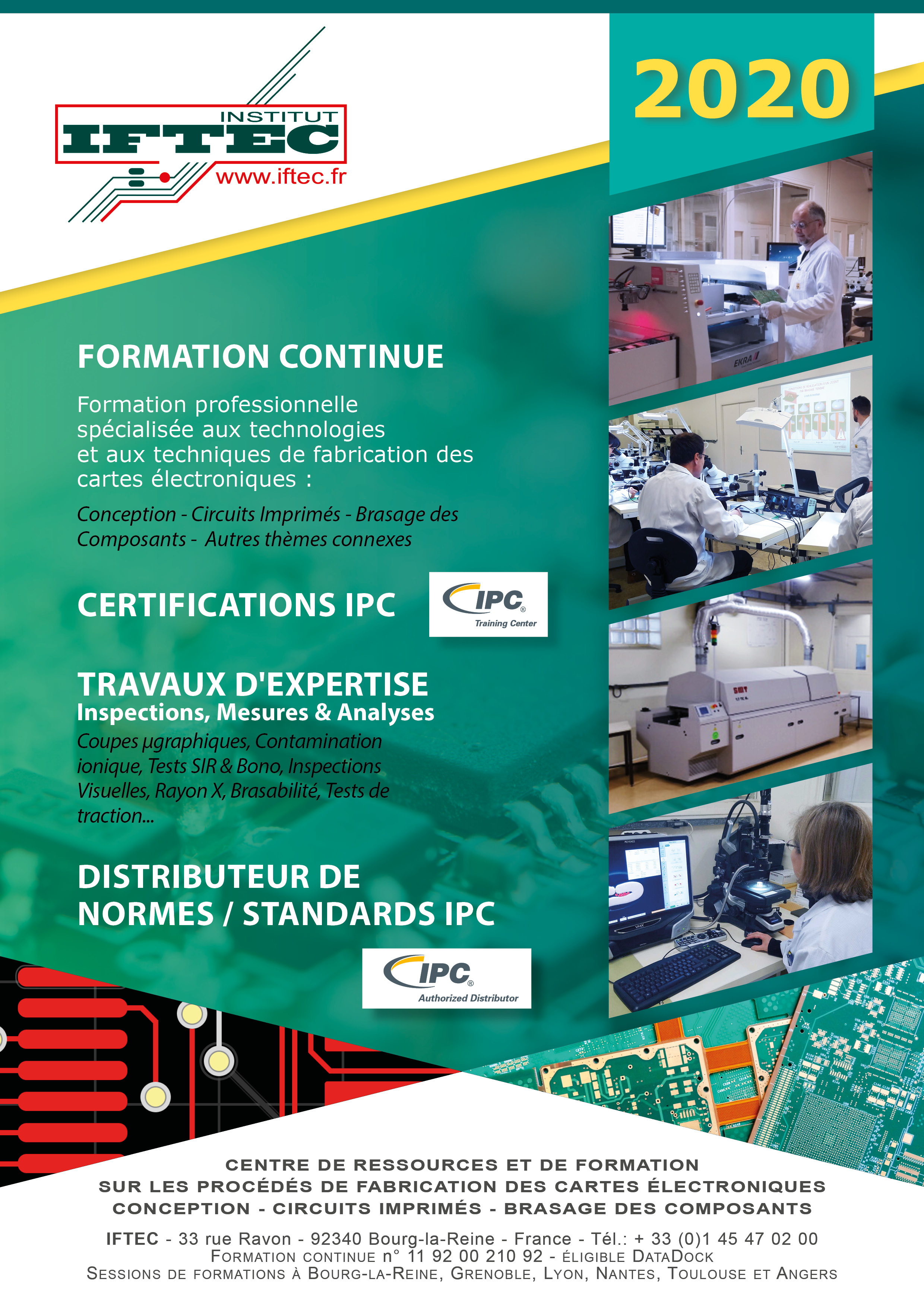 Calendrier des formations 2020