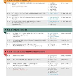 Dates et durées des stages en 2022
